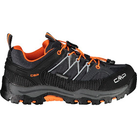 CMP Campagnolo Rigel WP Chaussures de trekking basses Enfant, antracite-flash orange
